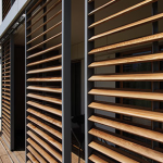 Detail paravan dřevo
